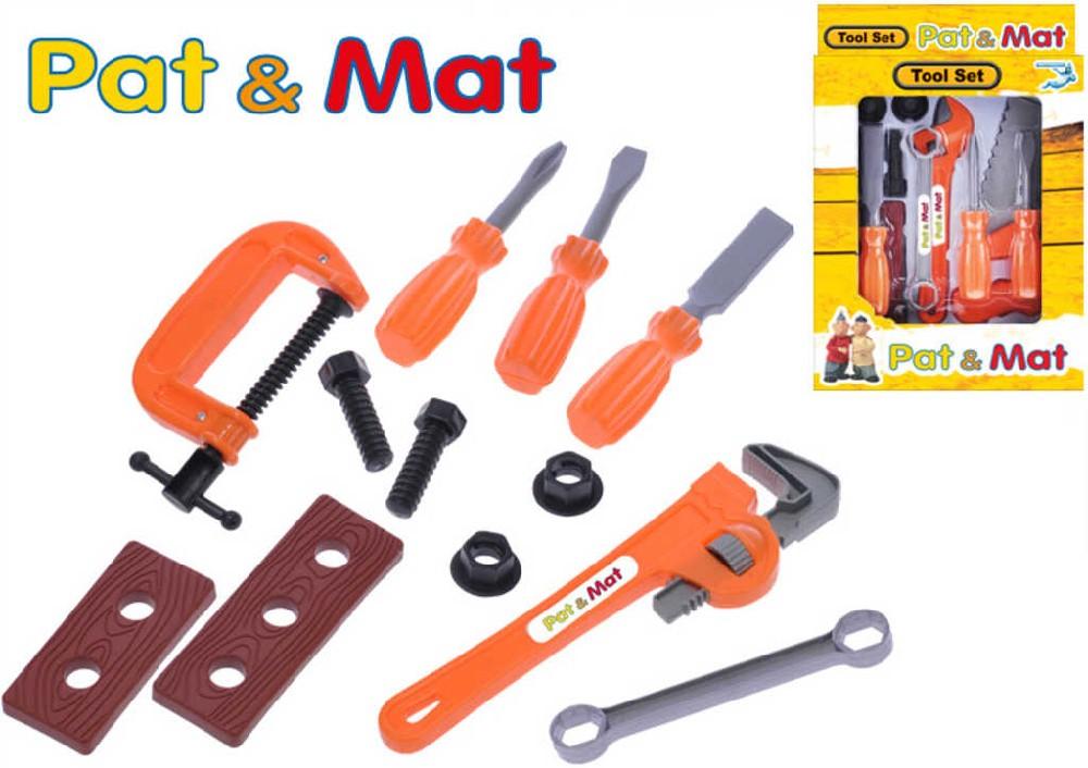 Sada dětské nářadí plastové Pat a Mat set 12ks v krabičce 2 druhy