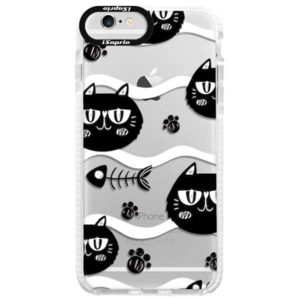 Silikonové pouzdro Bumper iSaprio - Cat pattern 04 - iPhone 6/6S
