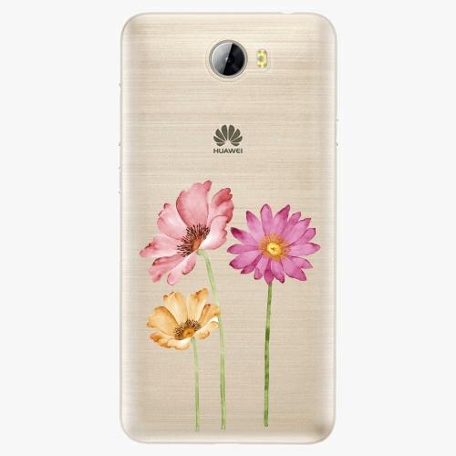 Plastový kryt iSaprio - Three Flowers - Huawei Y5 II / Y6 II Compact