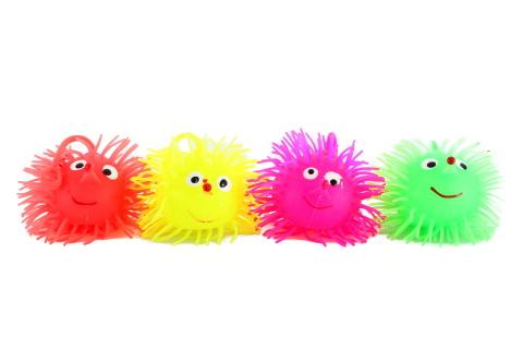 Střapatý míček - ježek 24/bal