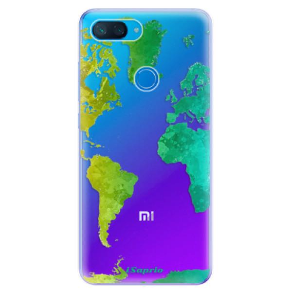 Odolné silikonové pouzdro iSaprio - Cold Map - Xiaomi Mi 8 Lite