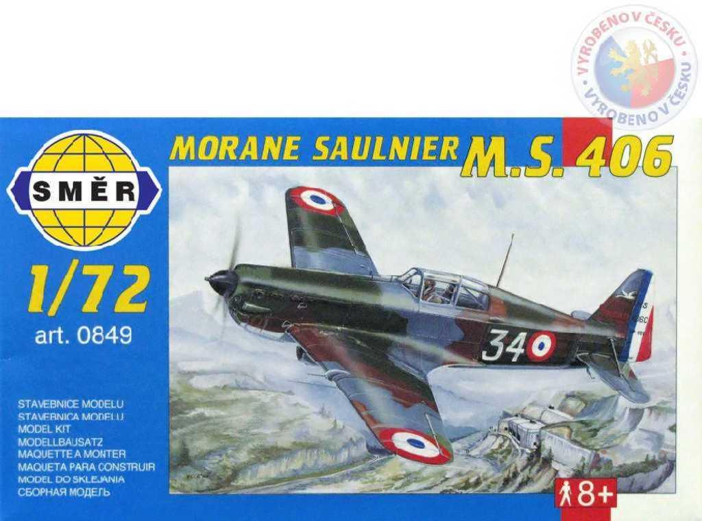 SMĚR Model letadlo Morane Saulnier MS 406 1:72 (stavebnice letadla)