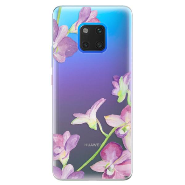 Silikonové pouzdro iSaprio - Purple Orchid - Huawei Mate 20 Pro
