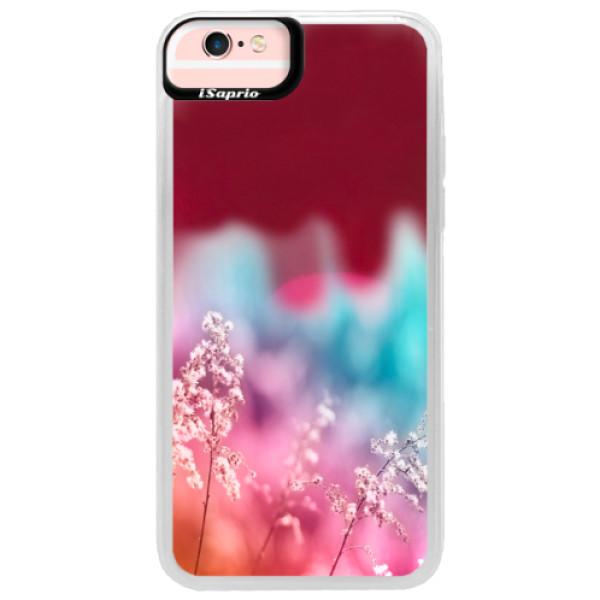 Neonové pouzdro Pink iSaprio - Rainbow Grass - iPhone 6/6S