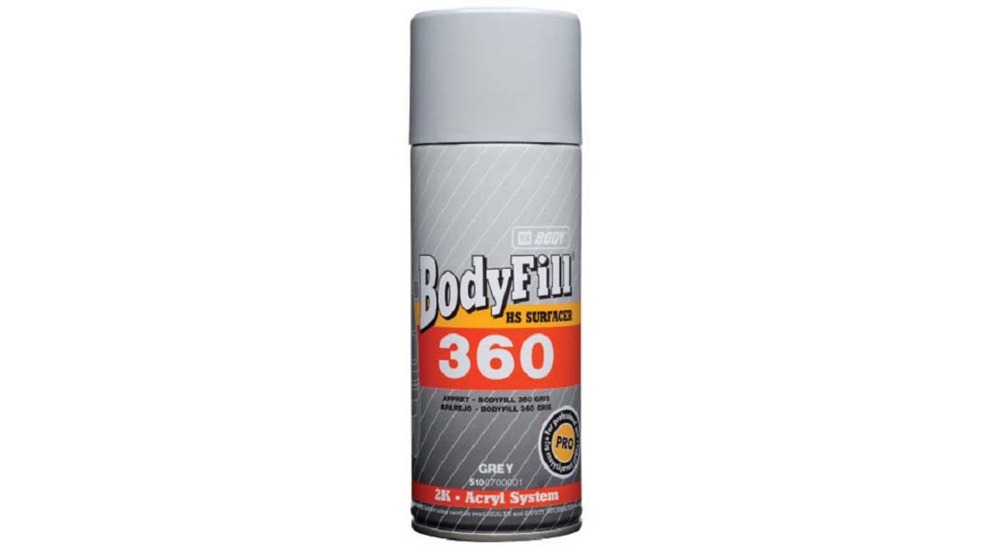 HB BODY fill 360 (2: 1) plnič / antikorozní základ ve spreji šedý 400ml