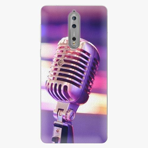 Plastový kryt iSaprio - Vintage Microphone - Nokia 8