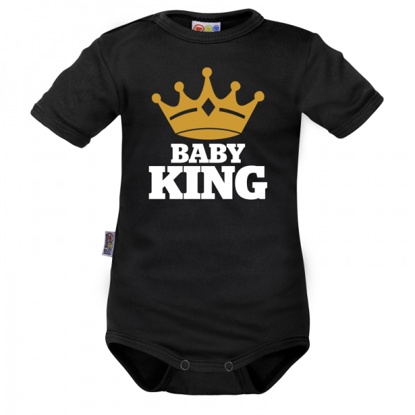 body-kratky-rukav-dejna-baby-king-cerne-vel-80-80-9-12m