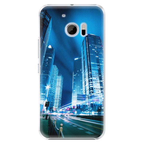 Plastové pouzdro iSaprio - Night City Blue - HTC 10