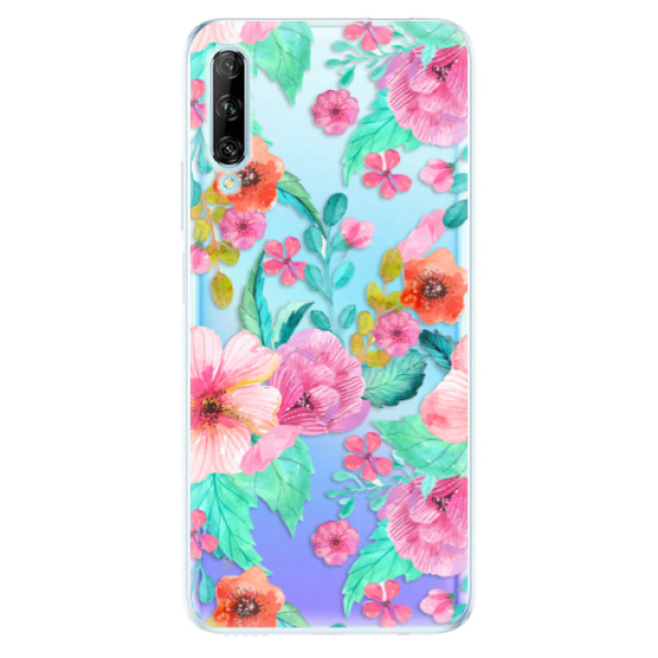Odolné silikonové pouzdro iSaprio - Flower Pattern 01 - Huawei P Smart Pro