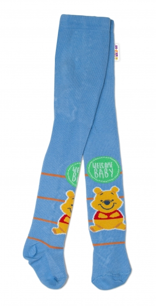Bavlněné punčocháče Disney Medvídek Pú Baby - modré, vel. 62/74 - 62 (2-3m)/68 (4-6m)/74 (