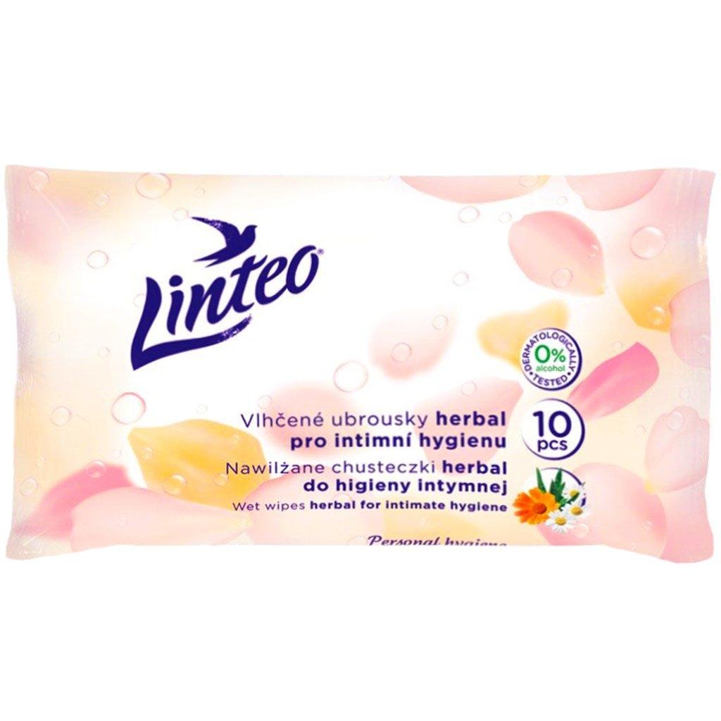 Satin Herbal vlhčené ubrousky pro intimní hygienu 10 ks