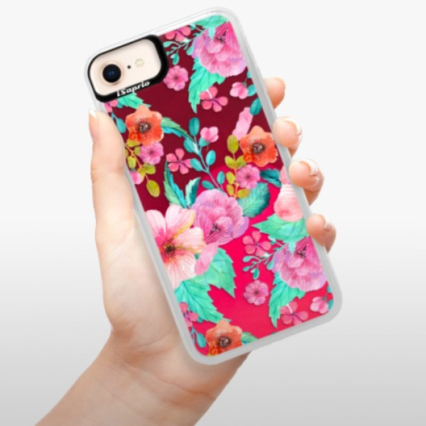 Neonové pouzdro Pink iSaprio - Flower Pattern 01 - iPhone 8