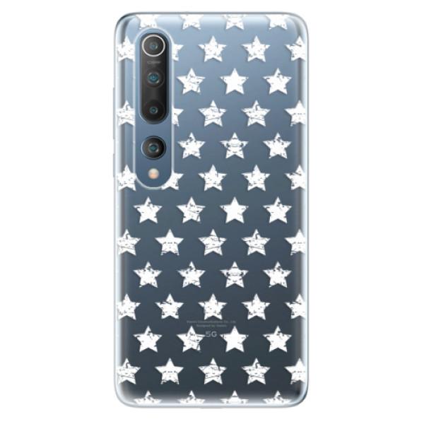 Odolné silikonové pouzdro iSaprio - Stars Pattern - white - Xiaomi Mi 10 / Mi 10 Pro