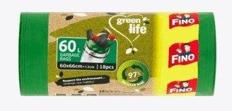 Fino pytle green life z recyklovaného PE 60L, 18 ks