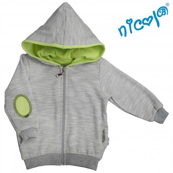 mikina-s-kapuci-nicol-zapinani-na-zip-boy-seda-zelena-vel-92-92-18-24m
