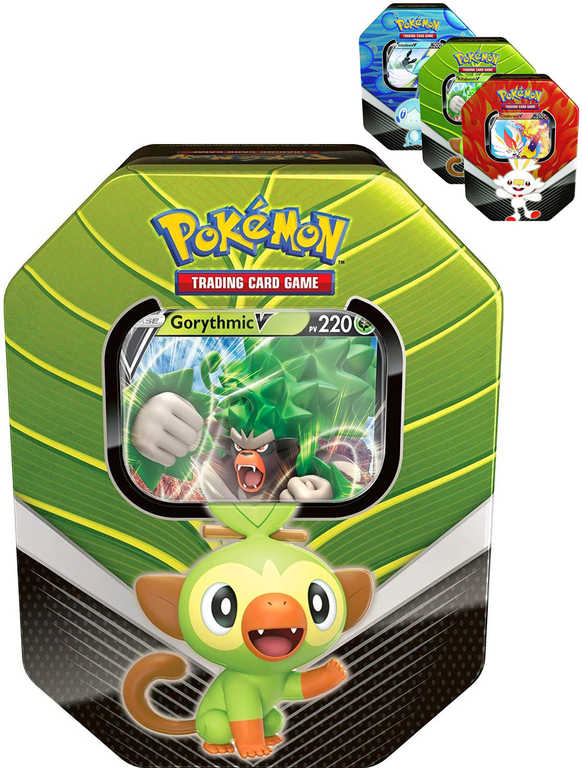 ADC Hra Pokémon TCG: Galar Partners Tin set 4x booster + foliová karta