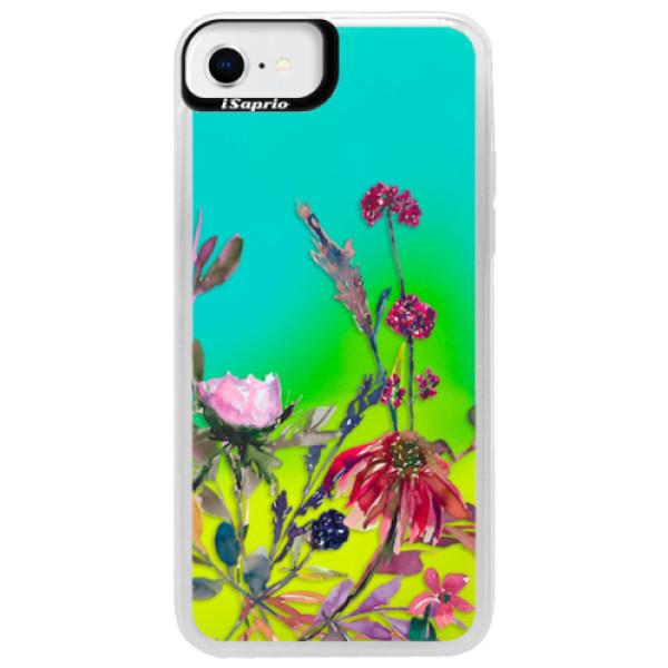 Neonové pouzdro Blue iSaprio - Herbs 02 - iPhone SE 2020