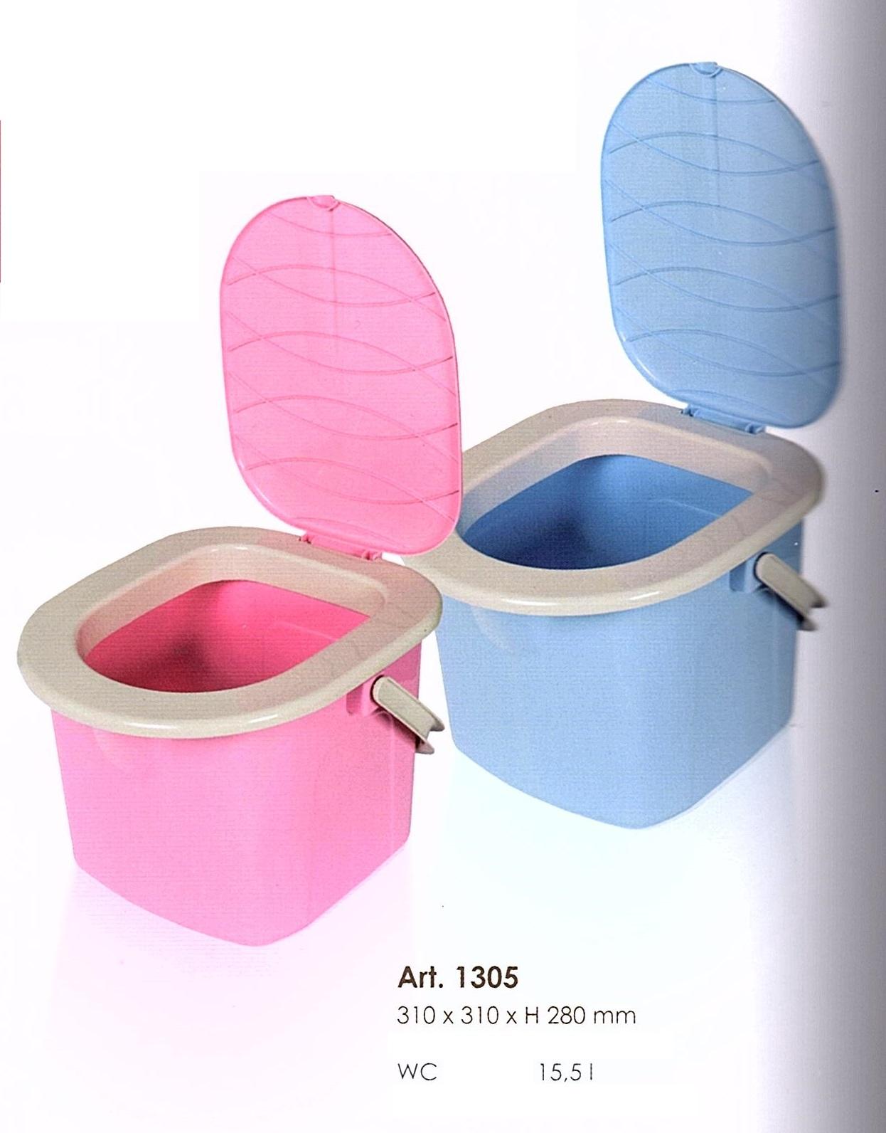 WC kbelík 15,5l - modrý