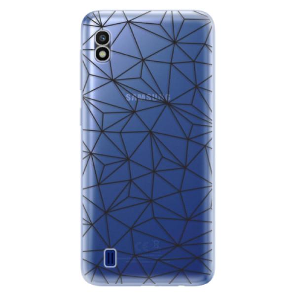 Odolné silikonové pouzdro iSaprio - Abstract Triangles 03 - black - Samsung Galaxy A10