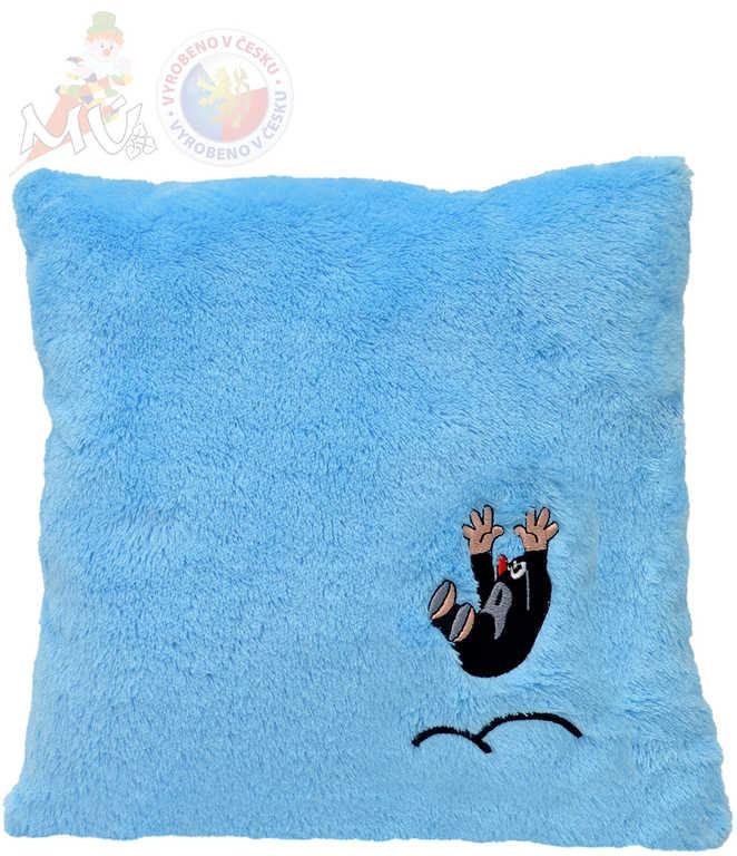 MORAVSKÁ ÚSTŘEDNA Polštář Krtek (Krteček) hop 30x30cm světle modrý