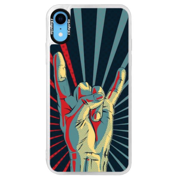 Neonové pouzdro Pink iSaprio - Rock - iPhone XR