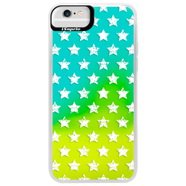 Neonové pouzdro Blue iSaprio - Stars Pattern - white - iPhone 6 Plus/6S Plus