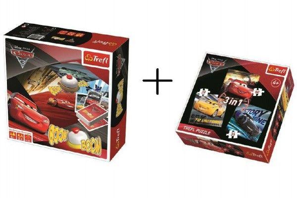 PACK Hra Boom Boom CARS 3 + puzzle 3v1 grátis v krabici