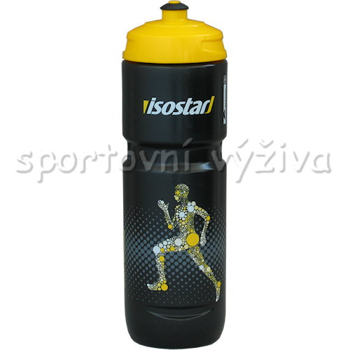 Isostar Bidon Run špunt 800ml-cerna