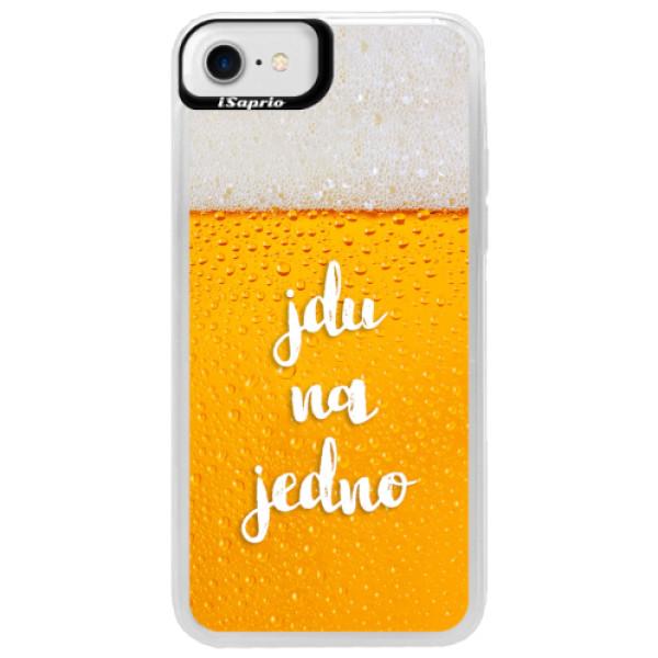 Neonové pouzdro Blue iSaprio - Jdu na jedno - iPhone 7