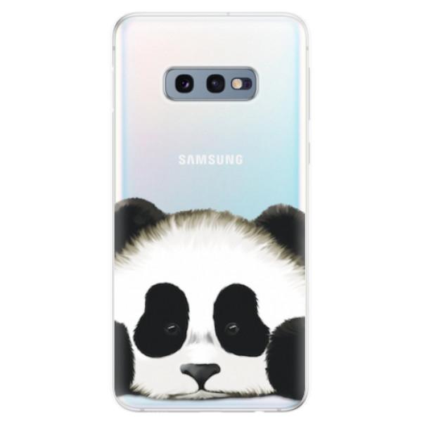 Odolné silikonové pouzdro iSaprio - Sad Panda - Samsung Galaxy S10e