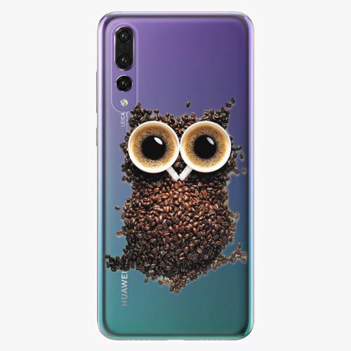 Plastový kryt iSaprio - Owl And Coffee - Huawei P20 Pro