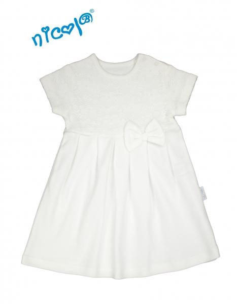 Nicol Kojenecké šaty Lady - bílé, vel. 98 - 98 (24-36m)