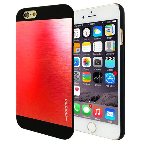 Hliníkový kryt / pouzdro Motomo pro iPhone 6 červený