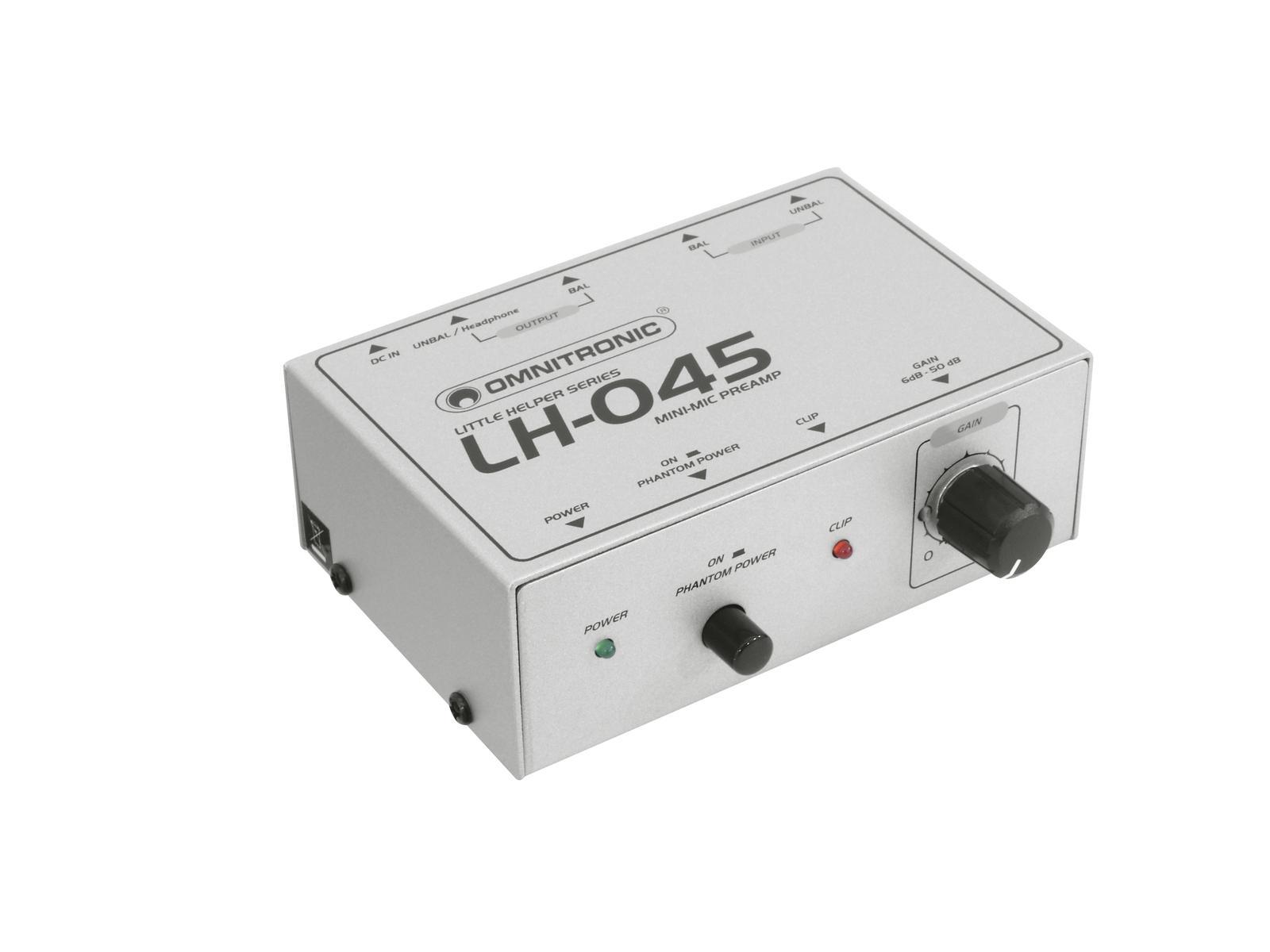 Omnitronic LH-045, mikrofonní předzesilovač
