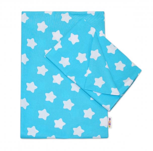 baby-nellys-bavlnene-povleceni-140-x-200-70x90-sweet-stars-tyrkysova-140x200-70x90cm