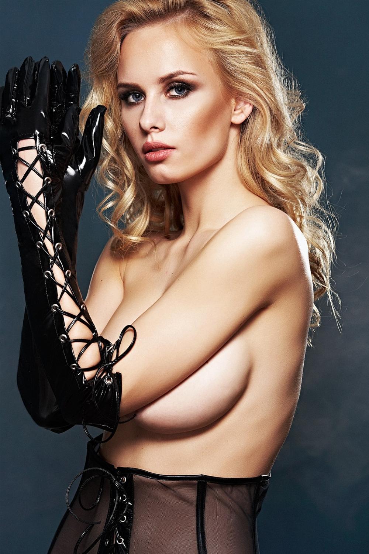 Erotické rukavičky A0212 - Černá/L/XL