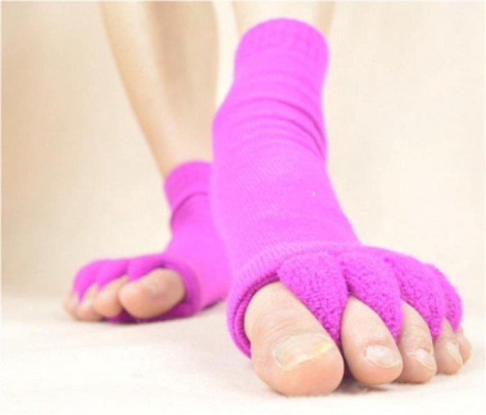 Relaxační prstové ponožky - Růžová