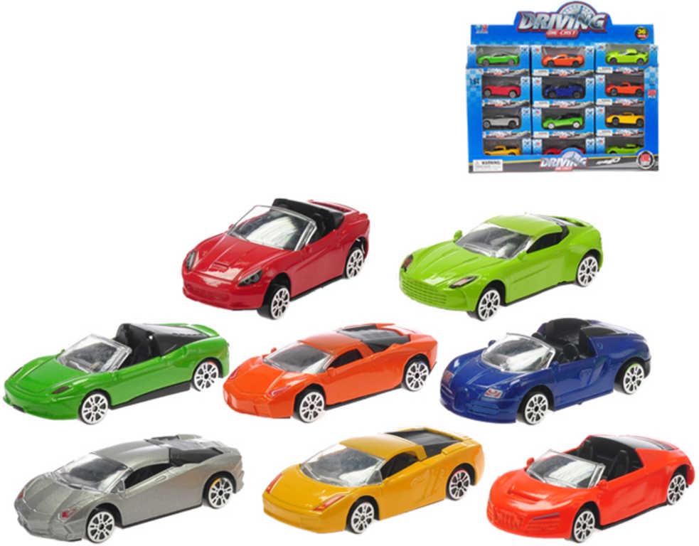 Auto sportovní kovové 1:64 model 7,5cm 8 druhů v krabičce