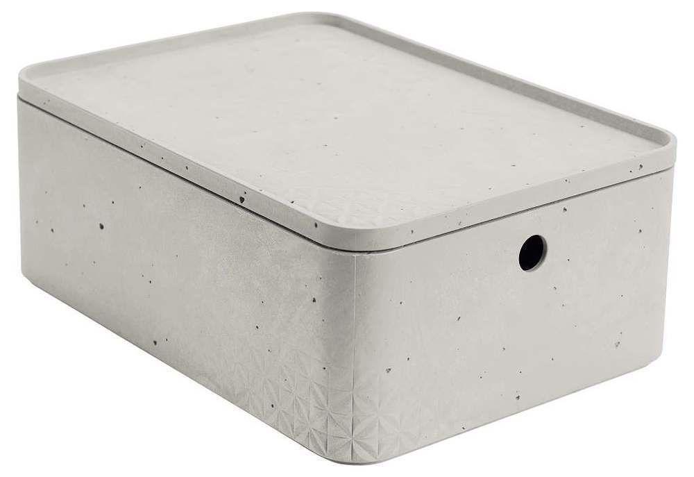 Úložný box s víkem CURVER BETON - M