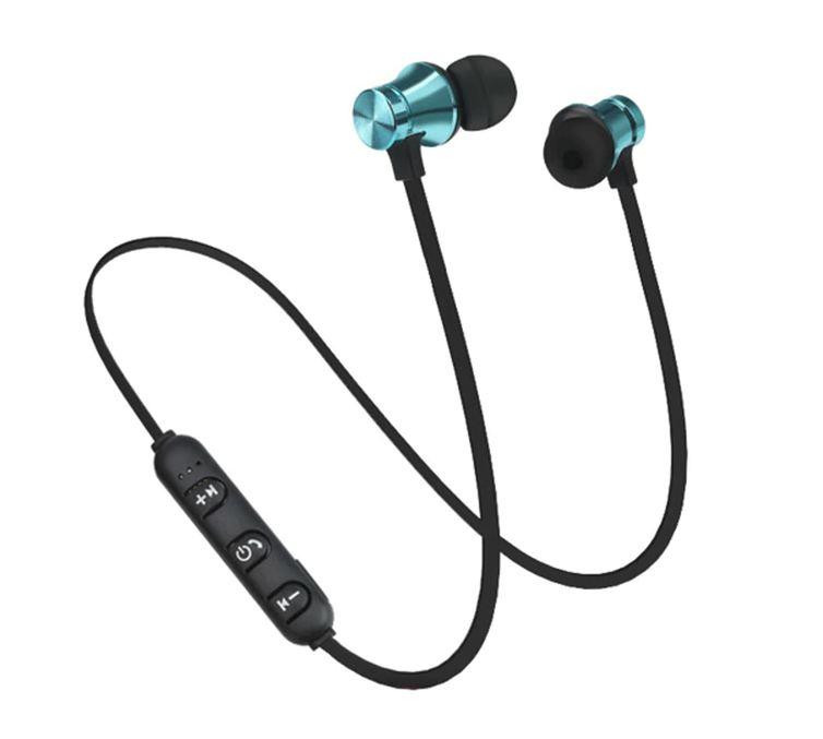 Bluetooth sluchátka na magnet - Černo-tyrkysová