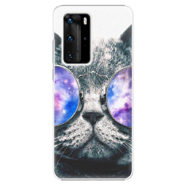 Plastové pouzdro iSaprio - Galaxy Cat - Huawei P40 Pro