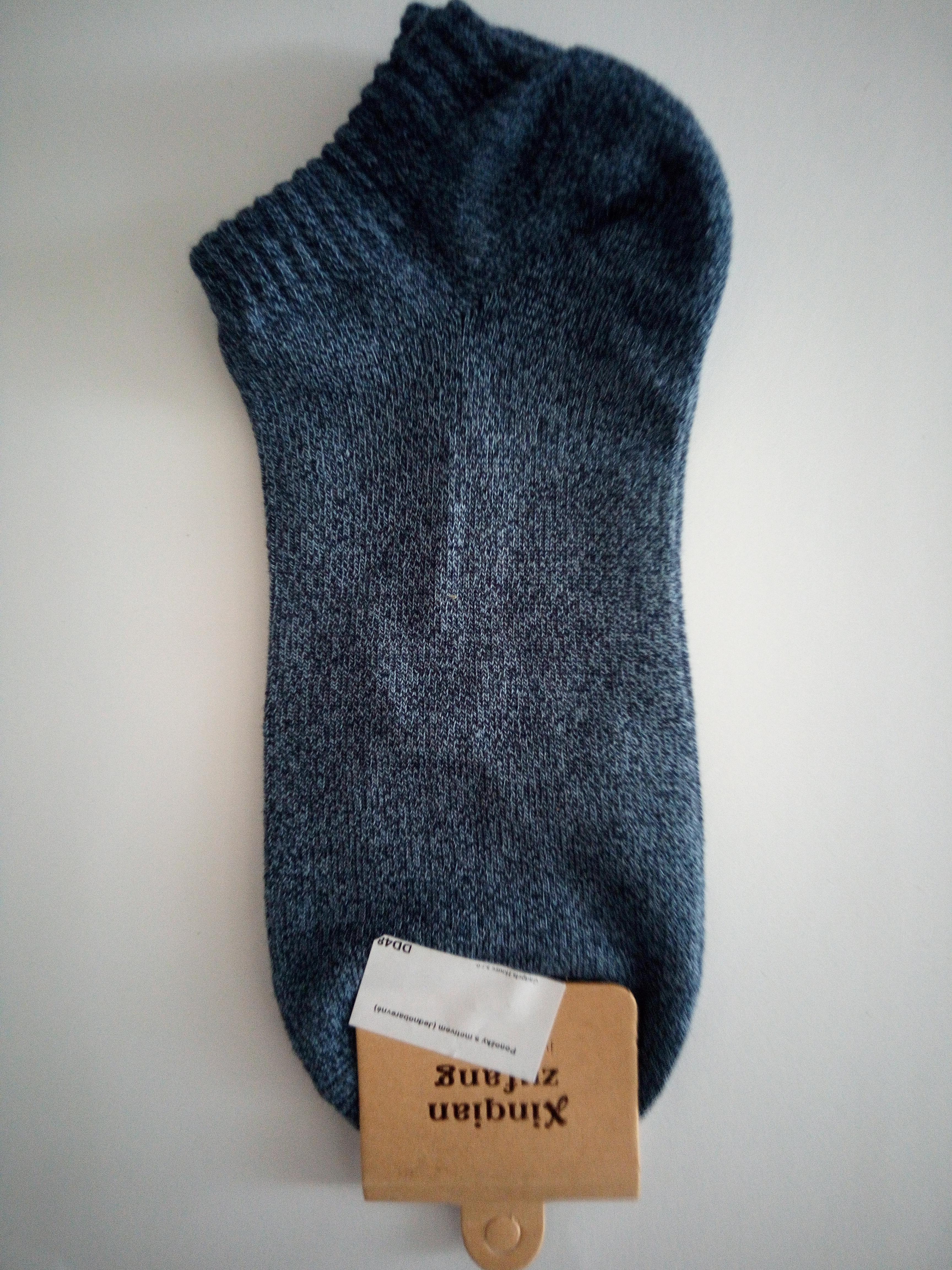 Jednobarevné letní ponožky - Modrá