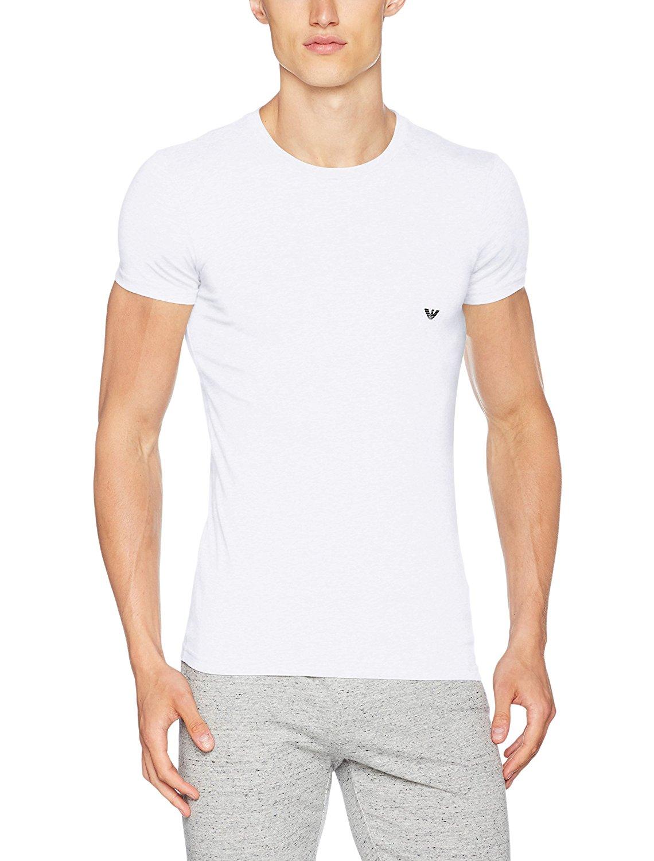 Pánské tričko 111035 CC729 00010 bílá - Emporio Armani