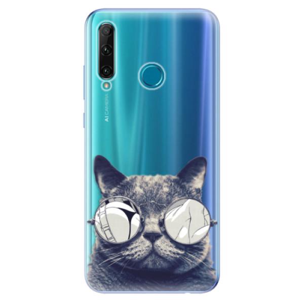 Odolné silikonové pouzdro iSaprio - Crazy Cat 01 - Honor 20e