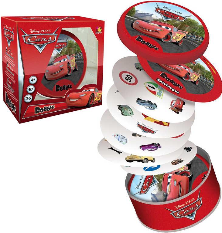 ASMODEE Hra postřehová Dobble CARS v plechové krabičce *SPOLEČENSKÉ HRY*