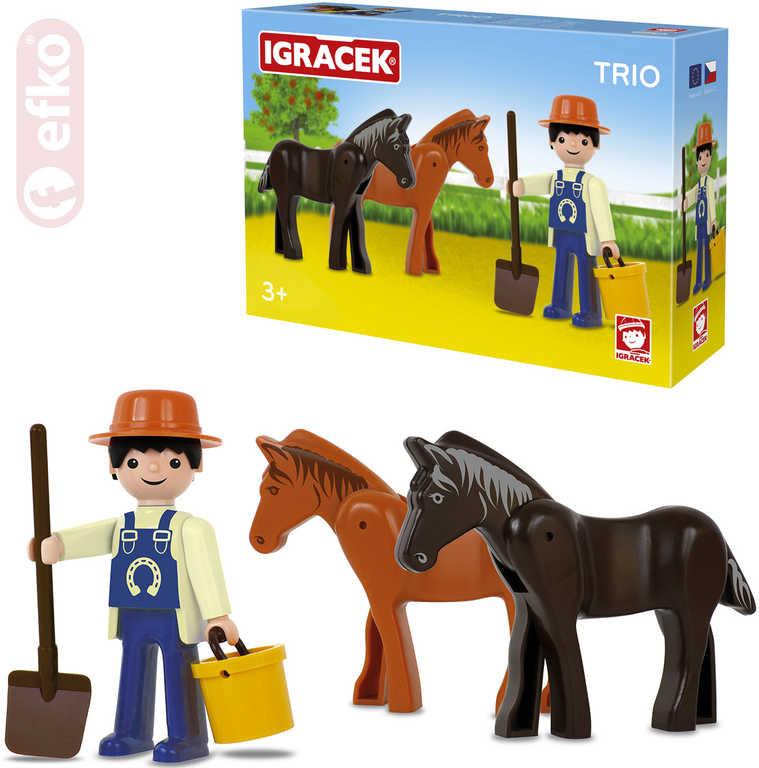 EFKO IGRÁČEK TRIO Farma set figurka s doplňky