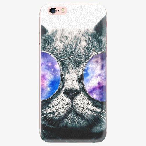 Silikonové pouzdro iSaprio - Galaxy Cat - iPhone 7