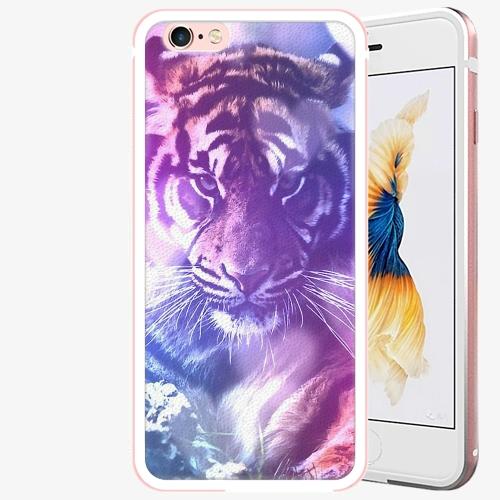 Plastový kryt iSaprio - Purple Tiger - iPhone 6 Plus/6S Plus - Rose Gold