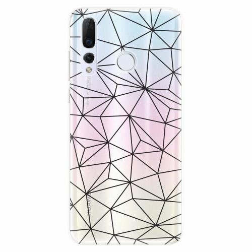 Silikonové pouzdro iSaprio - Abstract Triangles 03 - black - Huawei Nova 4
