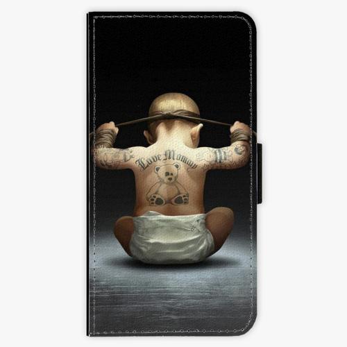Flipové pouzdro iSaprio - Crazy Baby - iPhone 8